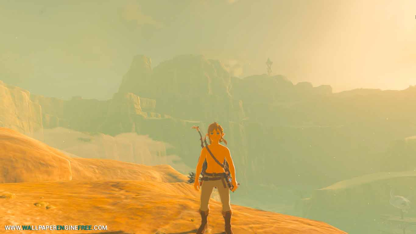 The Legend Of Zelda Breath Of The Wild In Desert 4k Wallpaper