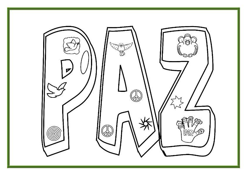Imágenes Para Colorear Dibujos Del Día De La Paz: Banco De Imagenes Y Fotos Gratis: Dibujos Dia De La Paz