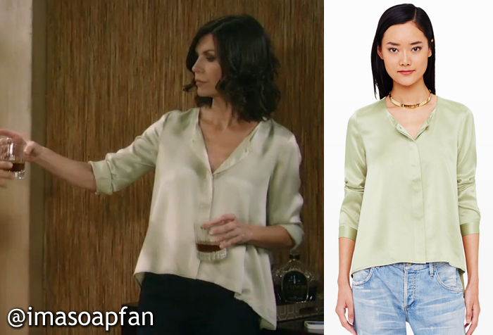 0ae7e36ea573f Anna Devane s Green Silk Blouse - General Hospital