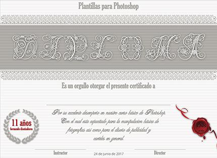 Diplomas y certificados gratis para Photoshop