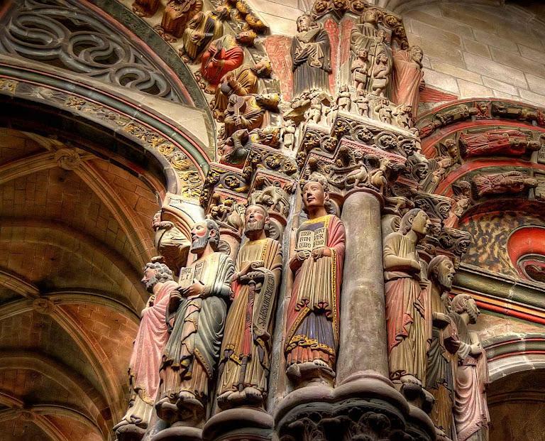 Catedral de Ourense, Espanha, detalhe do pórtico de ingresso ou 'Pórtico del Paraiso'