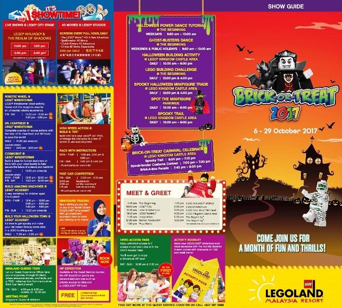 legoland malaysia halloween brochure