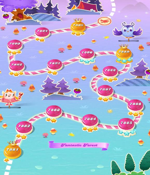 Candy Crush Saga level 7881-7895