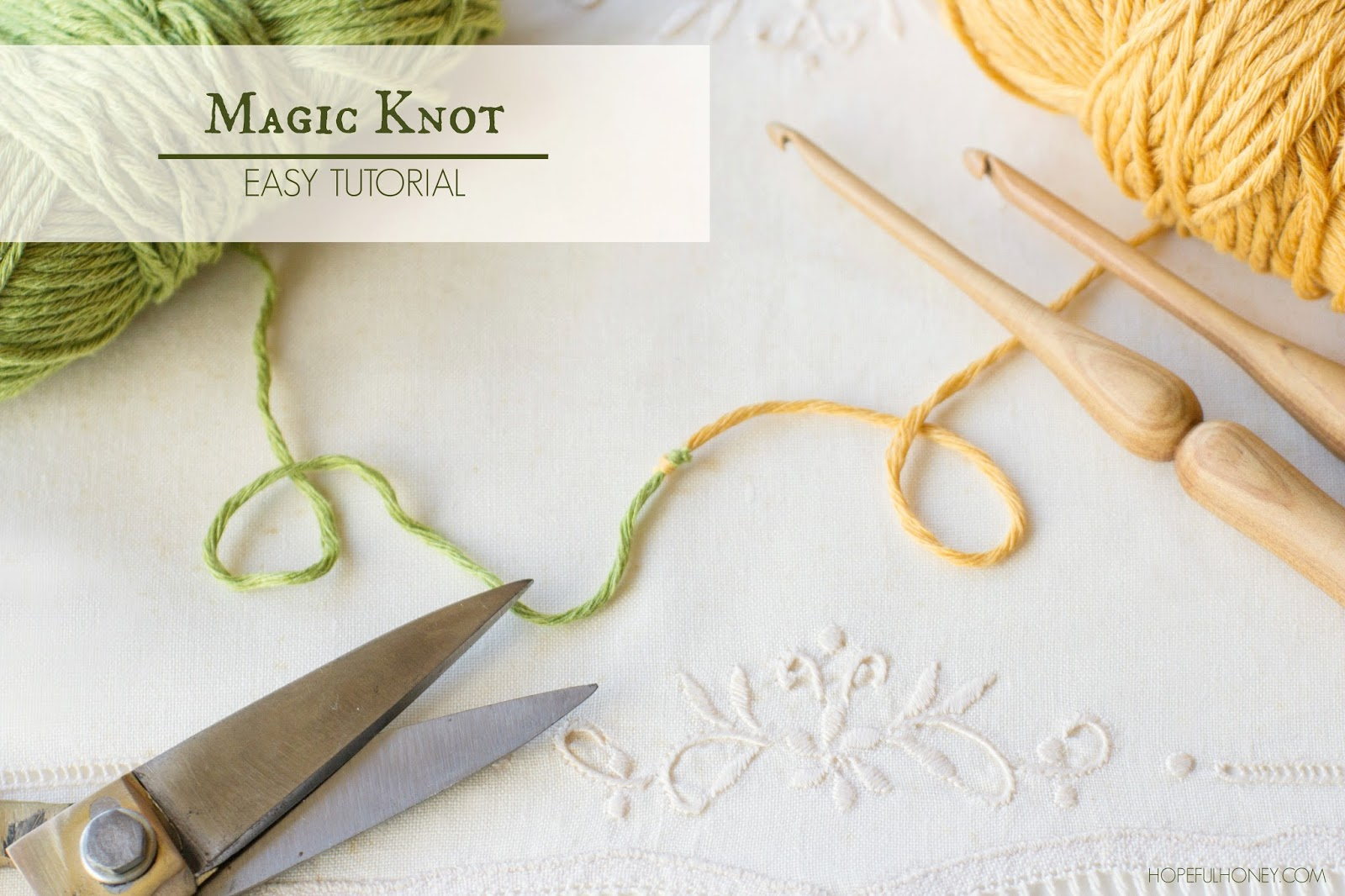 ... , Crochet, Create: How To: The Magic Knot (Yarn Join) - Easy Tutorial
