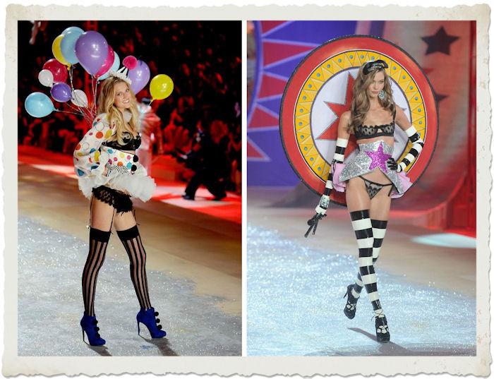 Toni Garn e Karlie Kloss durante il Victoria's Secret Fashion Show 2012