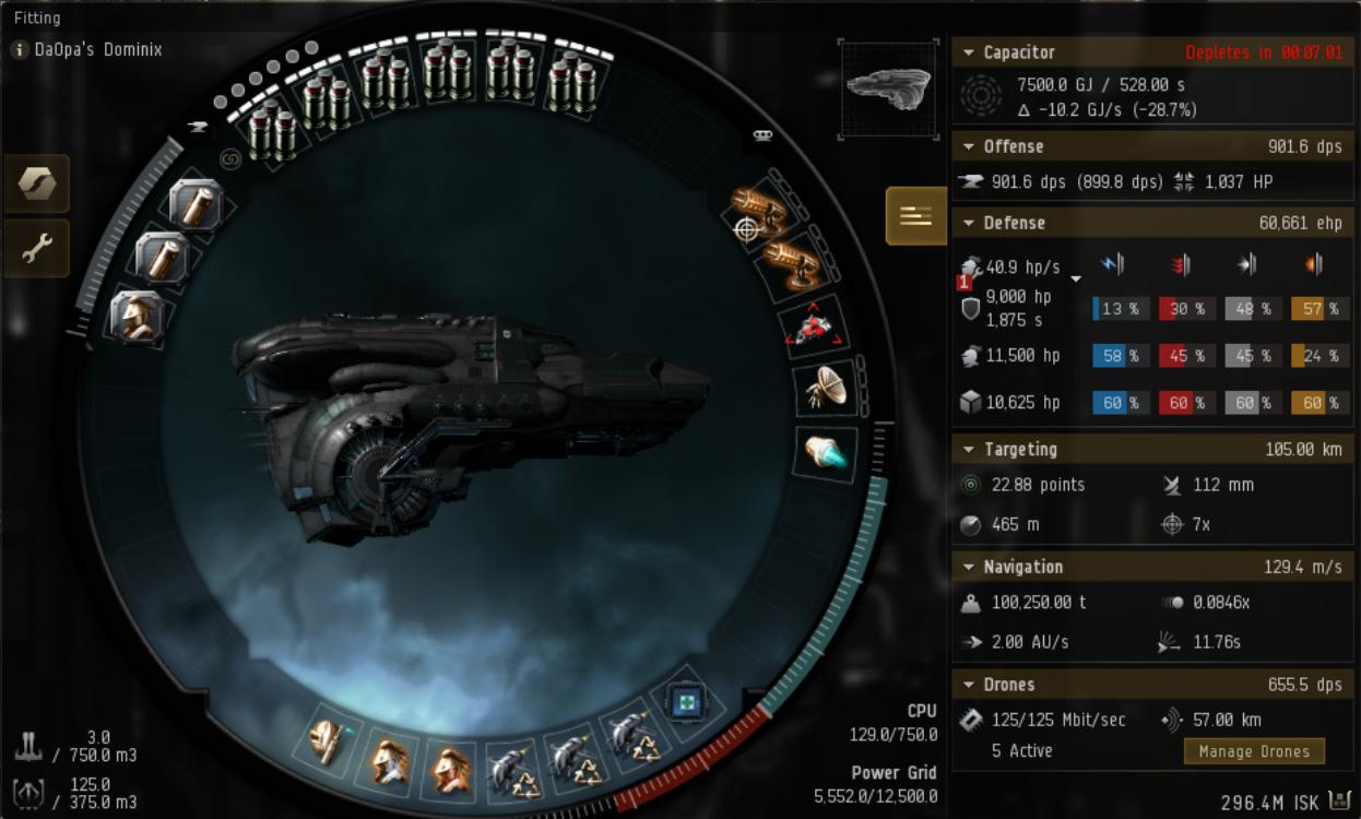 EVE Online Mission: Dominix Level 4 Mission Fit