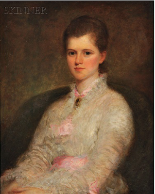 Young Woman in White and Pink, Rosina Emmet Sherwood