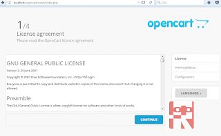 tahap pertama instal cms opencart