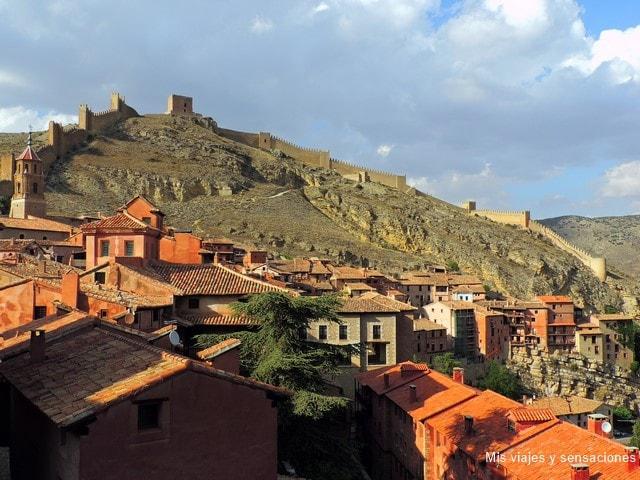 Vistas desde el mirador de la catedral, Albarracín, Teruel