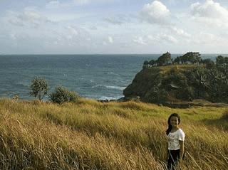 Padang rumput bukit timur Pantai Klayar Pacitan