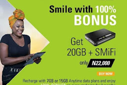 Get Smile 4G LTE MiFi Device And Enjoy Massive 20GB Data + 100% Data Bonus for 3months