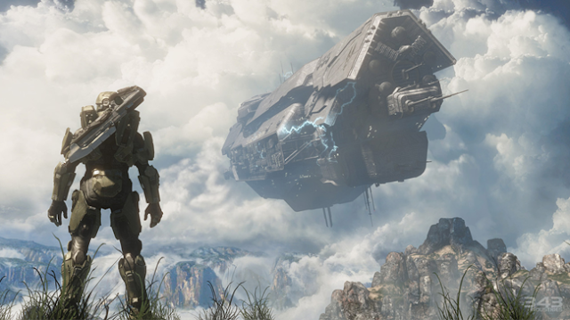 master chief and infinity in halo 4 screenshot