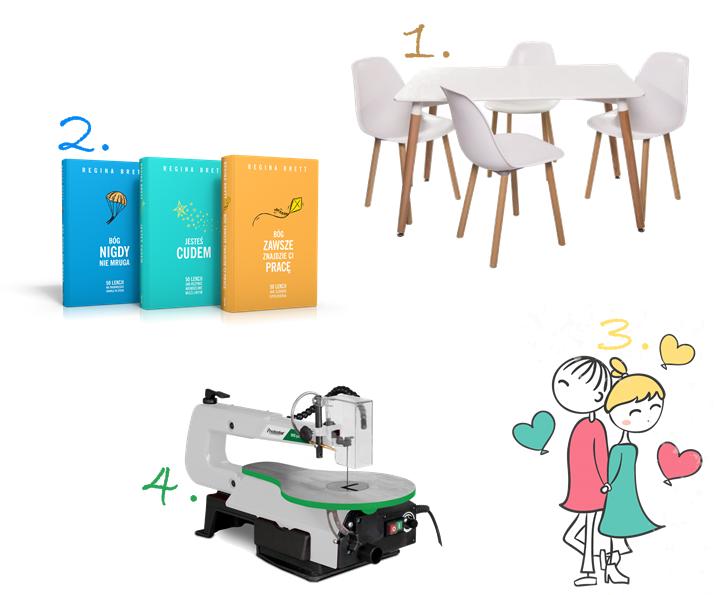 stół z krzesłami, komplet do jadalni, list do mikołaja, bm design, regina brett, wyrzynarka stołowa włosowa,