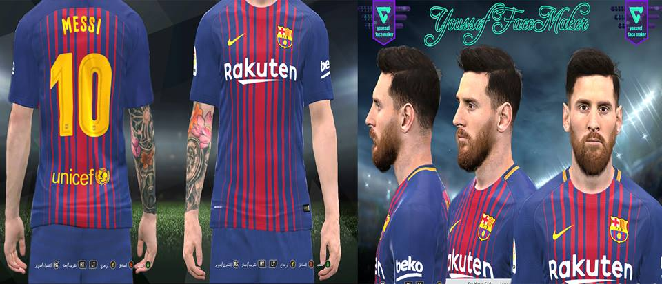 PES 2017 Lionel Messi New Face by Youssef Facemaker