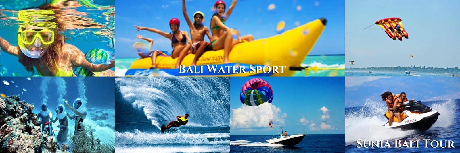 BALI WATER SPORTS TOUR | PARASAILING, BANANA BOAT, JET SKI, DONUT BOAT, WATER SKI, WAKEBOARDING, TURTLE ISLANDS, GLASS BOTTOM BOAT | Sunia Bali Tour