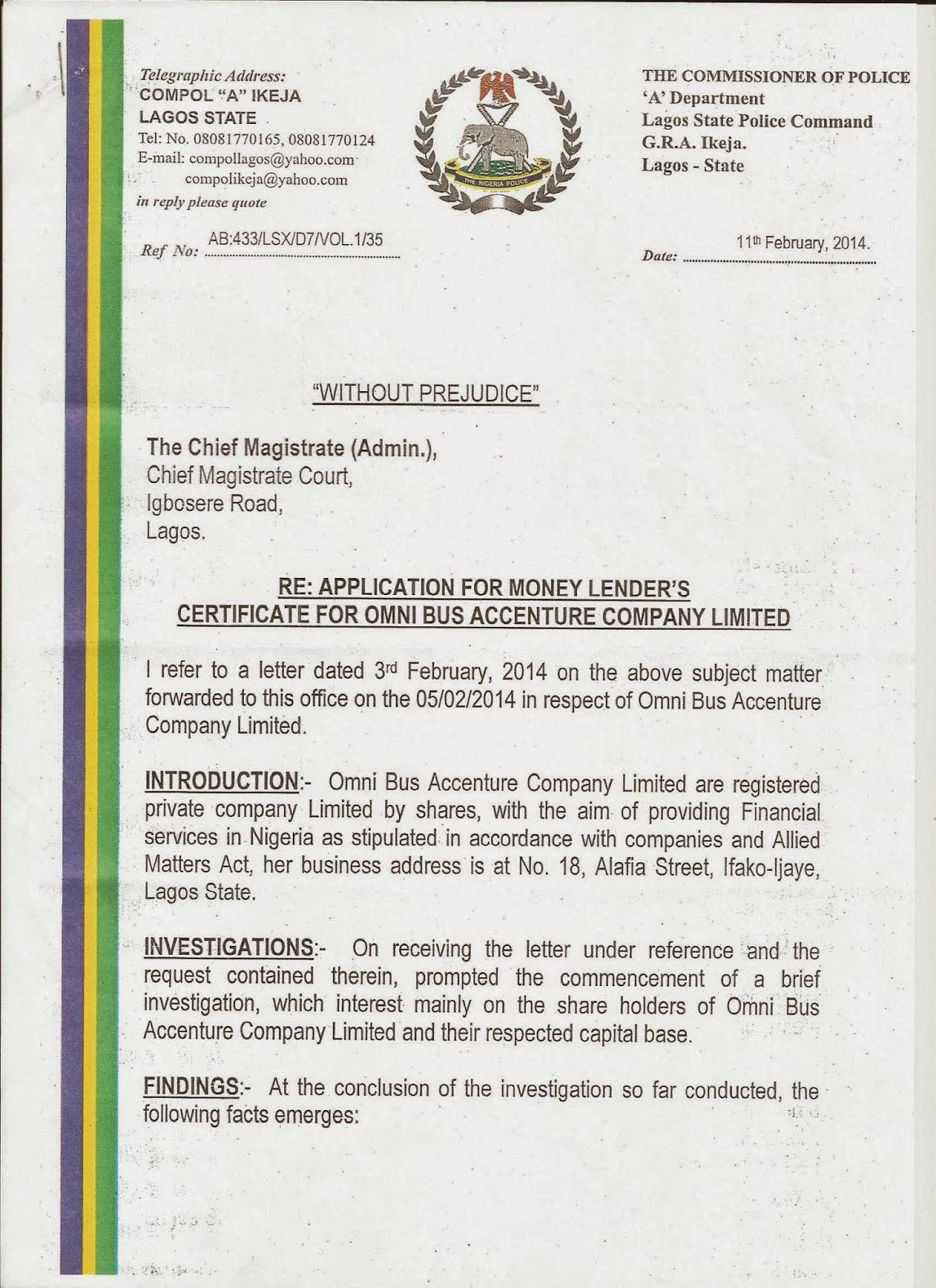 Omnibus Accenture Company Limited