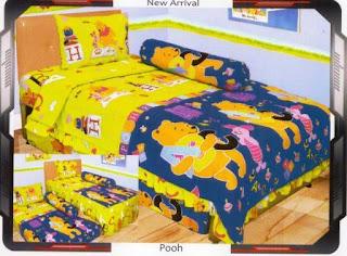 sprei internal motif Pooh