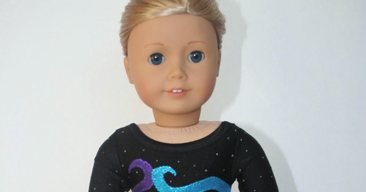 Leotard with sleeves for American Girl Doll