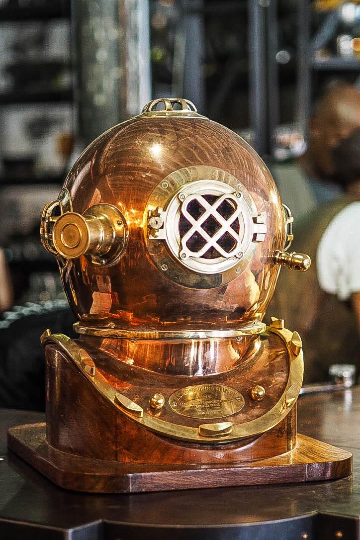 Copper submarine helmet
