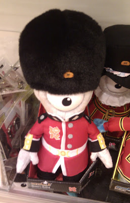 olympics mascot in horse guard outfit