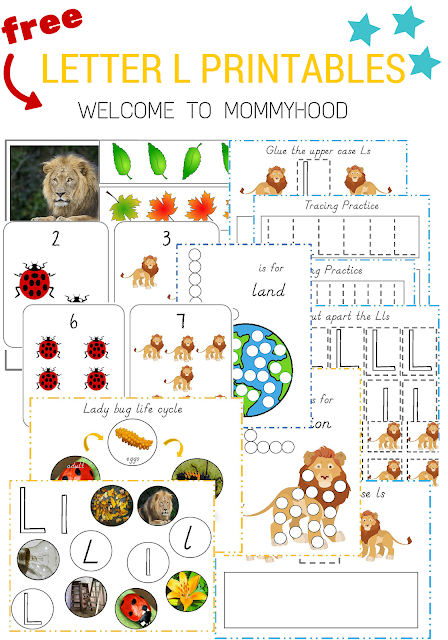 Tot Labs presents hands on letter activities for toddlers and preschoolers: FREE letter Ll printables by Welcome to Mommyhood, #preschoolactivities, #montessoriactivities, #montessori, #handsonlearning, #letteroftheweek, #lotw, #freeprintables