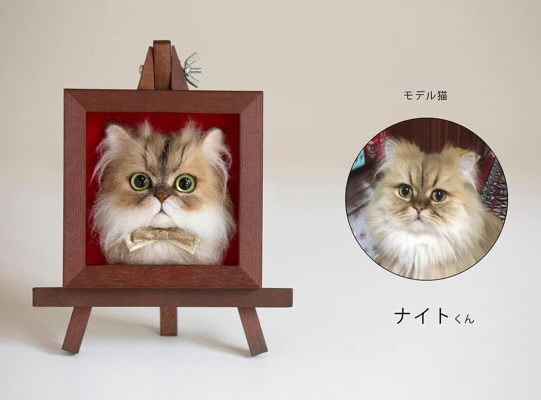 05-Wakuneco-Wool-Needle-Felt-Cat-Portraits-and-Video-Demonstration-www-designstack-co