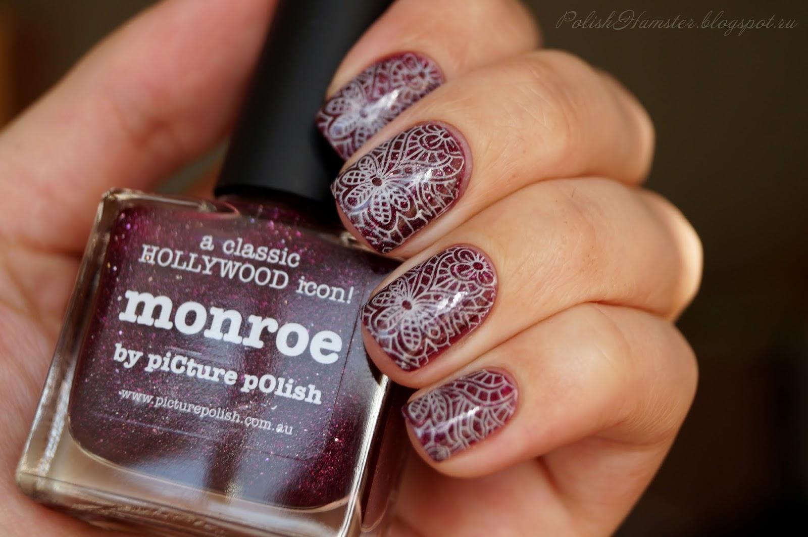 piCture pOlish Monroe + стемпинг EDM 01