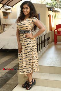 Telugu Actress Karunya Chowdary Stills in Short Dress at ATM Not Working Press Meet  0296.jpg
