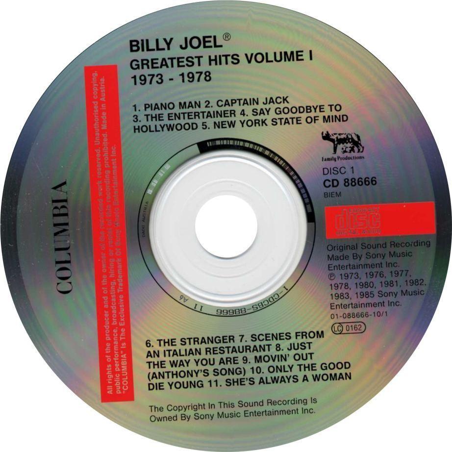 Greatest Hits Vols 1 2 Billy Joel: Billy Joel - Greatest Hits Volume II (1978-85)EAC