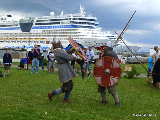 "Lucha medieval durante el Festival ""Tallin Maritime Days"""