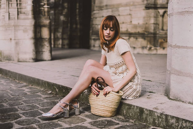 Parisian style: mini dress vintage crochet by Miss Pandora {Cool Chic Style Fashion}