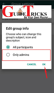 WhatsApp New Feature: you can now restrict group members from changing or editing group information