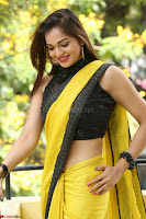 Cute Actress Ashwini in Yellow Saree Exclusive  030.JPG