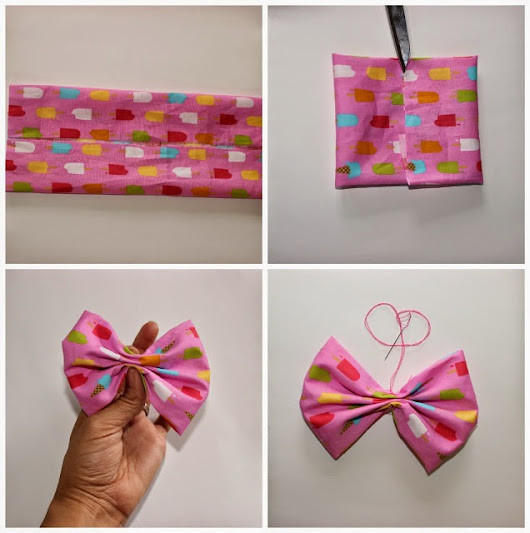DIY Fabric Hair Bow | LifeWithLesDeux.com