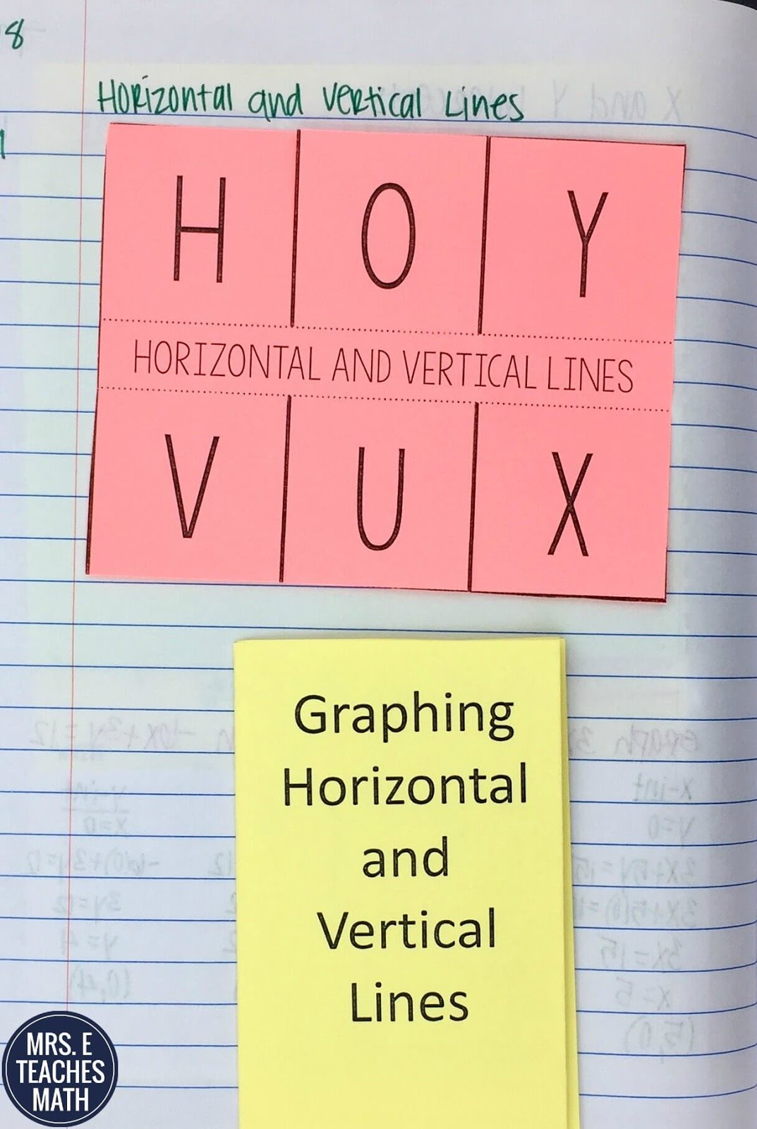 worksheet Graphing Horizontal And Vertical Lines Worksheet graphing horizontal and vertical lines inb pages mrs e teaches math interactive notebook idea for algebra 1