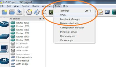 Cara Menambah PC Pada GNS3 Dengan VPCS