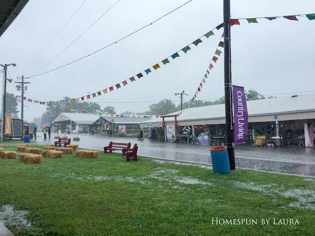 Rainy Weekend at the Country Living Fair in Nashville, Tennessee