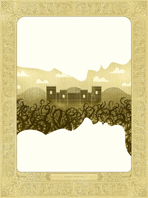 "Mondo Once Upon A Time Print Series - ""Sleeping Beauty"" Gold Variant Screen Print by Kevin Tong"