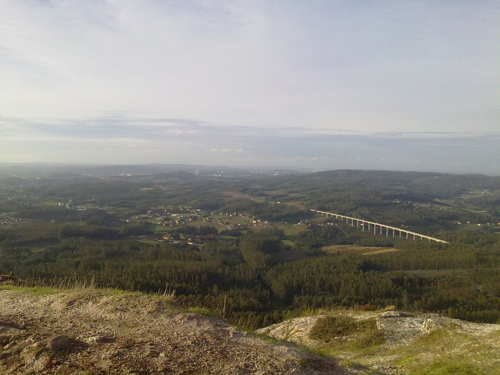 Vistas desde el Pico Sacro en Boqueixón