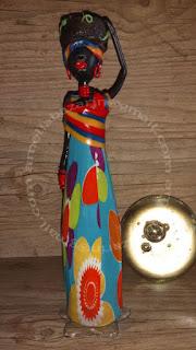 Boneca de garrafa africana