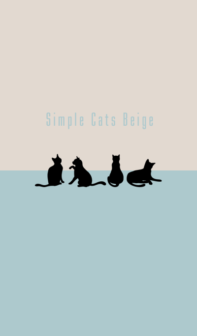 Simple cats Blue Beige Theme WV