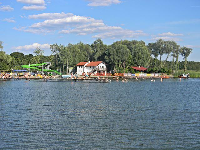 jezioro, Zbąszyń, Błędno, kąpiel, zjeżdżalnia