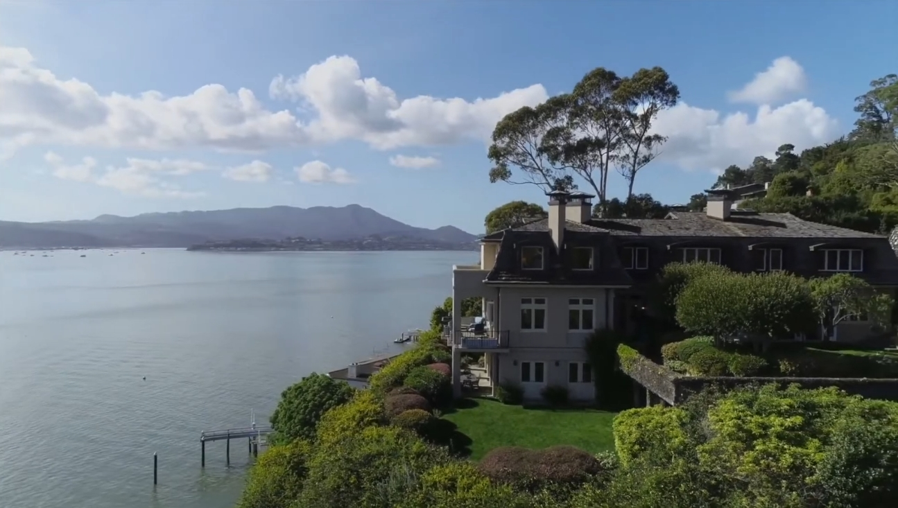 16 Photos vs. Inside Elegant Mansion with Beautiful View in Belvedere California vs. Interior Design Tour
