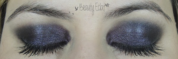 tutoriel maquillage smoky violet