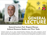 "General Lecture ""Cultural Resource Studies and Their Tasks"" (Prof.Haruya Kagami)"