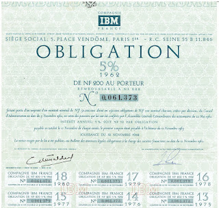 IBM France bond from 1962