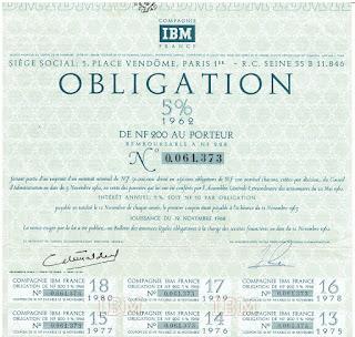 IBM France bond from 1962