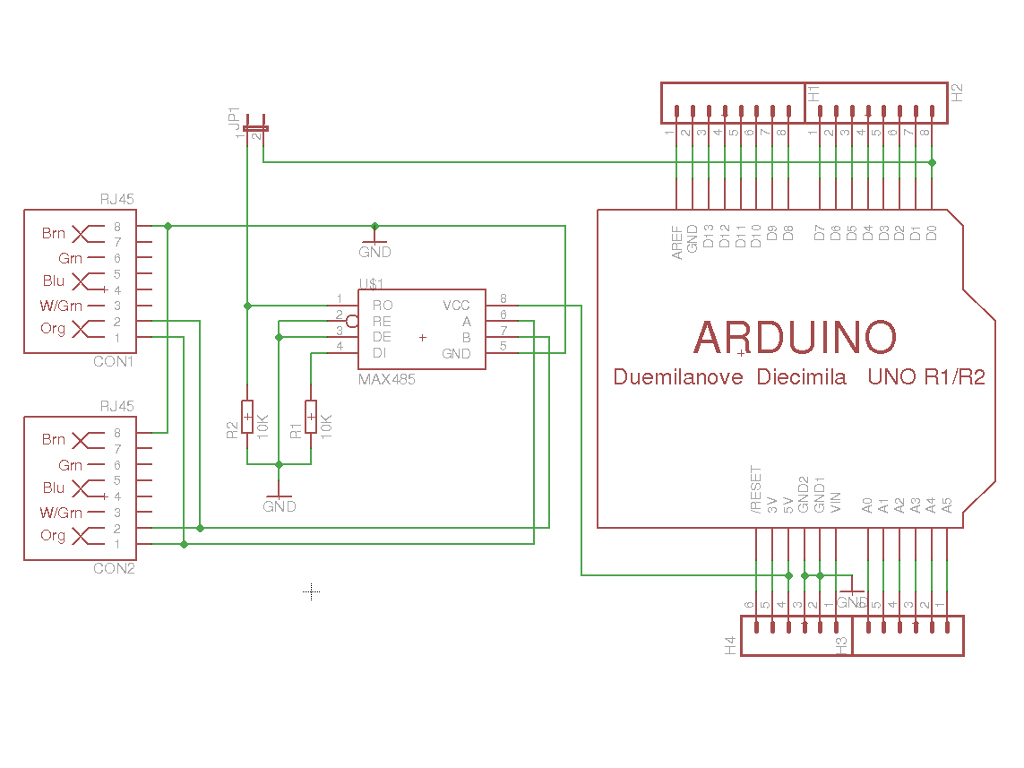 hight resolution of i have designed a simple prototyping shield for this it plugs into the arduino