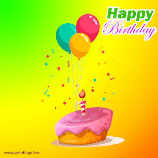 Beautiful happy birthday wishes images with beautiful cake