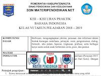 Kisi-kisi Ujian Praktik Bahasa Indonesia SD/MI Format Microsoft Word Terbaru Tahun 2019